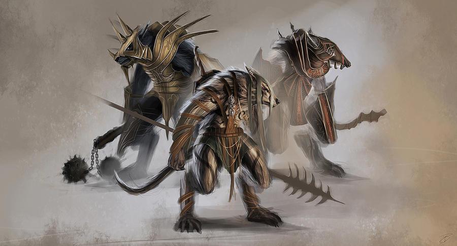 Concept Art - Wolf Warrior by dges on DeviantArt Werewolf Warrior Art