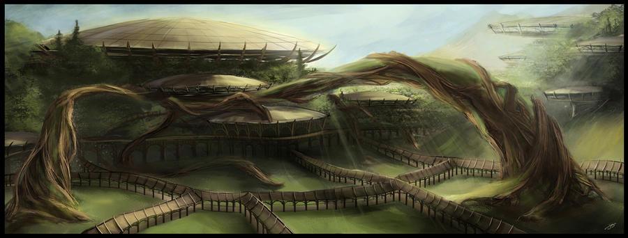 Concept Art - Temple Obad'Hai by dges