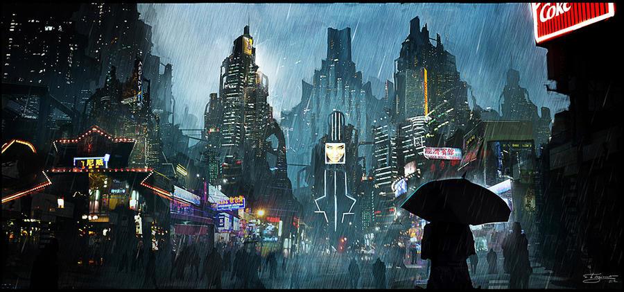 Women Warrior Artwork Sword Rain Cyberpunk Cyberpunk: Cyberpunk By Dges On DeviantArt