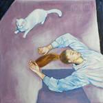 Selfportrait with Cat III