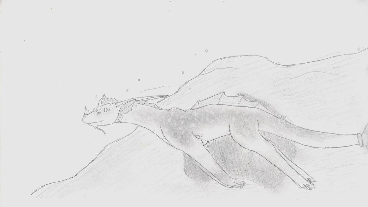Aquatic Dragon by X-Kayron-X