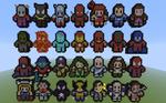 Minecraft 8-bit Alphabets: Marvel Comics