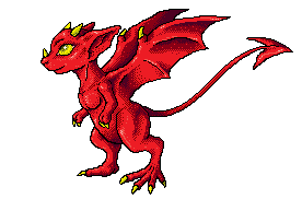 Red draconic rat pixel-art by Eppon