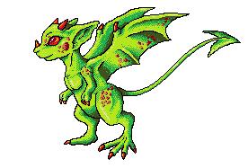 Green Draconic Rat pixel-art by Eppon