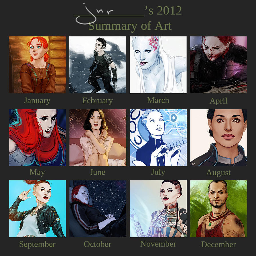 2012 Summary of Art by bluewickedbehemoth