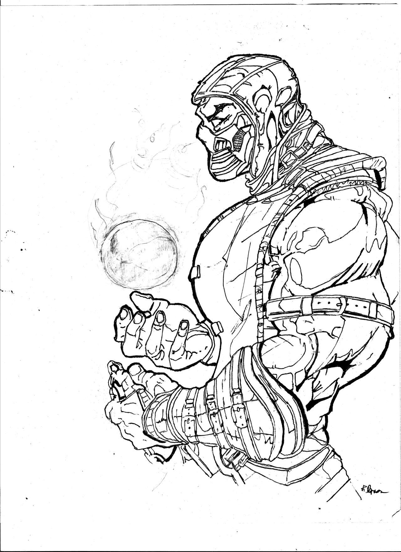 Scorpion Mortal Kombat Drawing By Bed562 On Deviantart