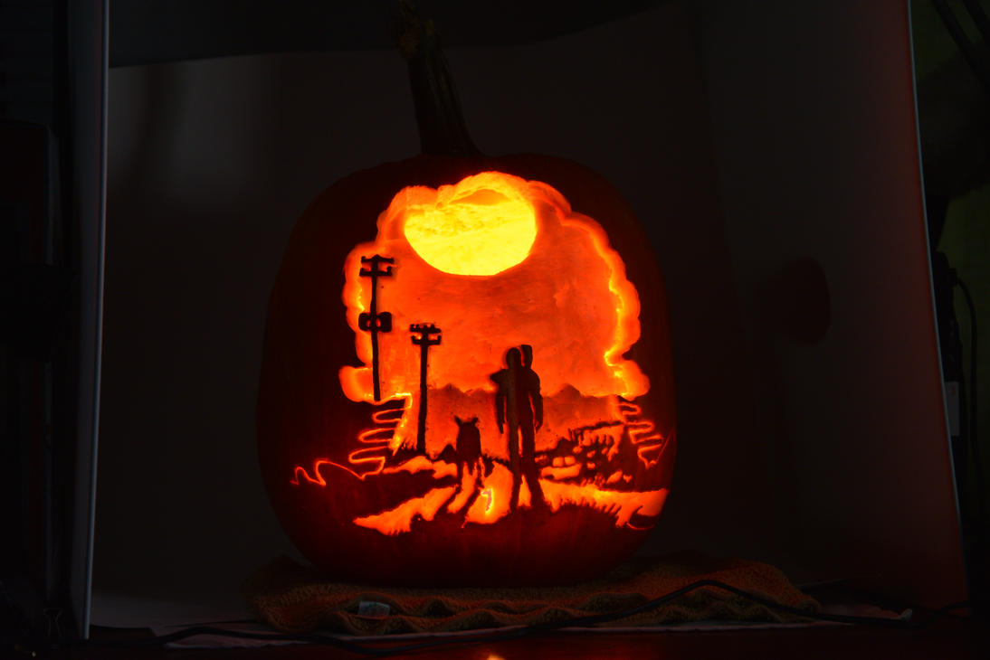 Fallout pumpkin by djdrummer on deviantart