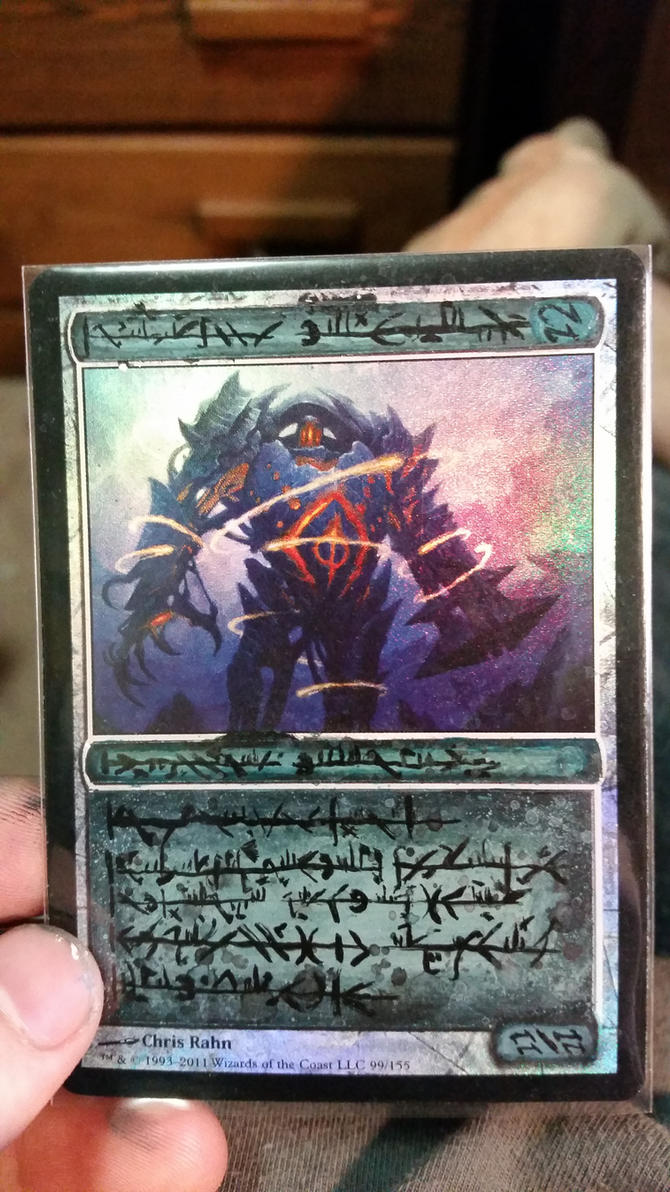 MTG Blightsteel Colossus Phyrexian Alter by DJdrummer