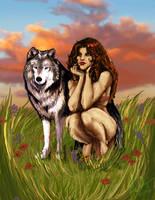Lady Wolf Kin by MiladyIsilwen
