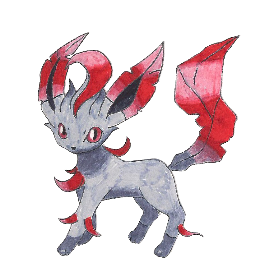Black/Red Leafon by match16