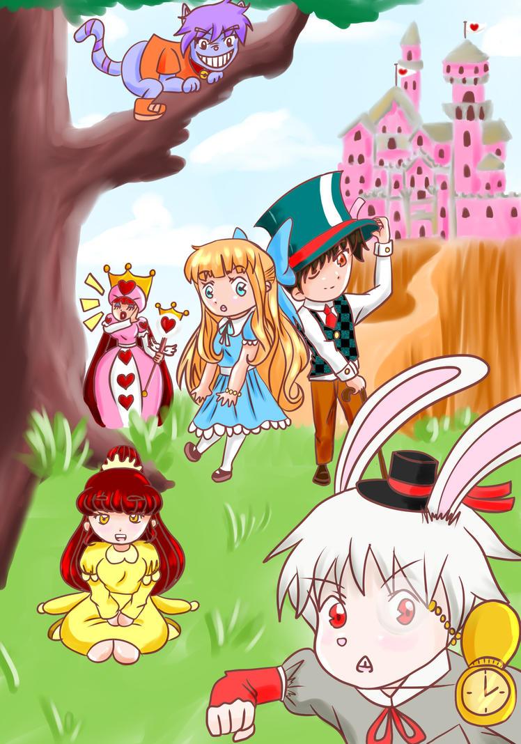 alice in wonderland (chibi) by animefanbabe