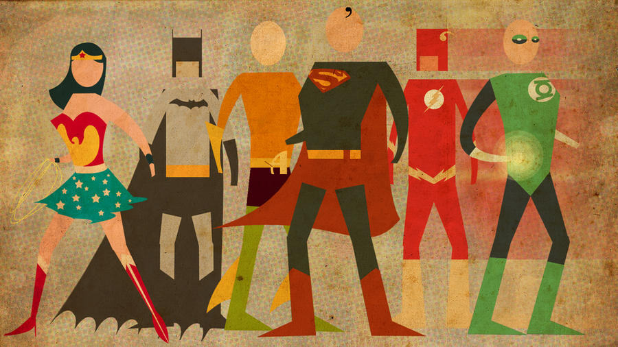 Retro Justice League by DaveBardin