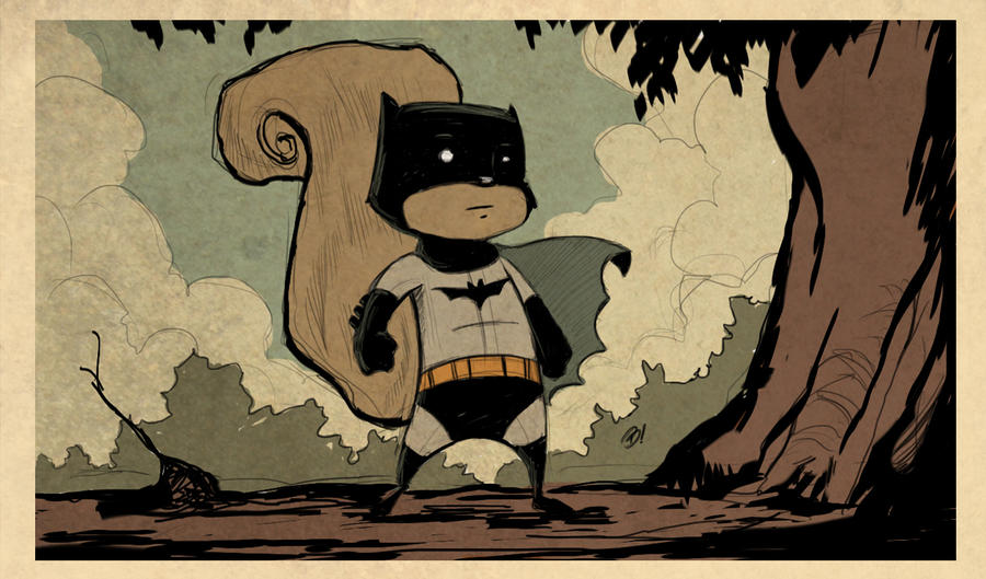 Bat-squirrel by DaveBardin