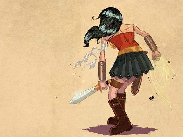 Wonder Woman by DaveBardin
