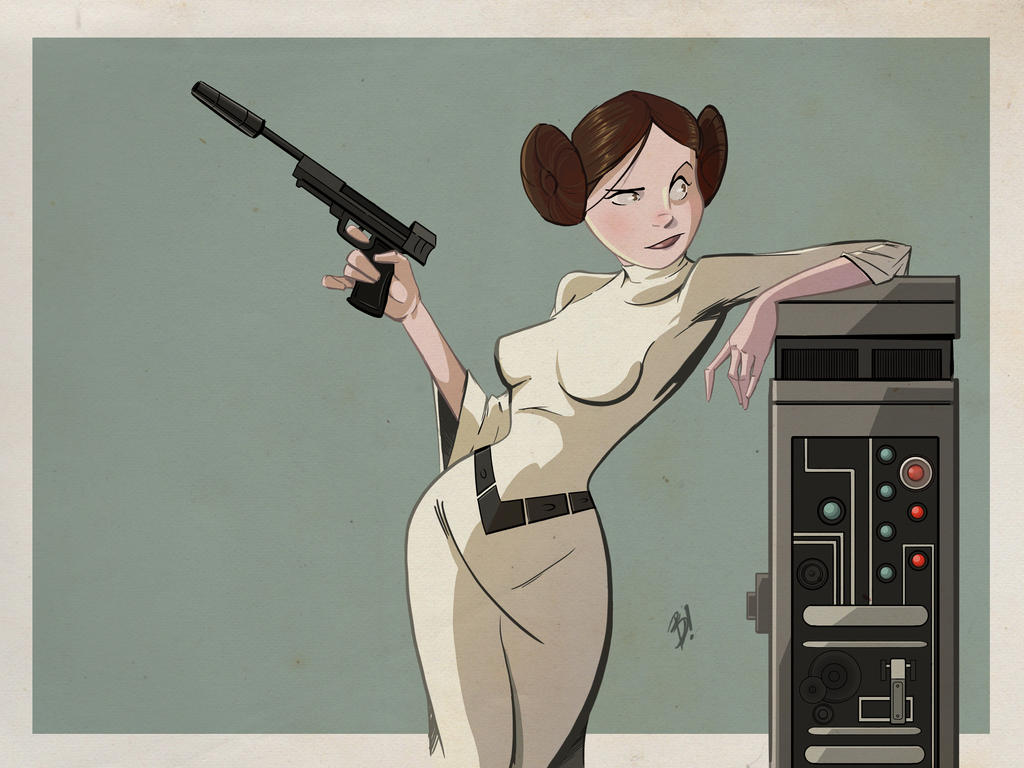 Princess Leia by DaveBardin