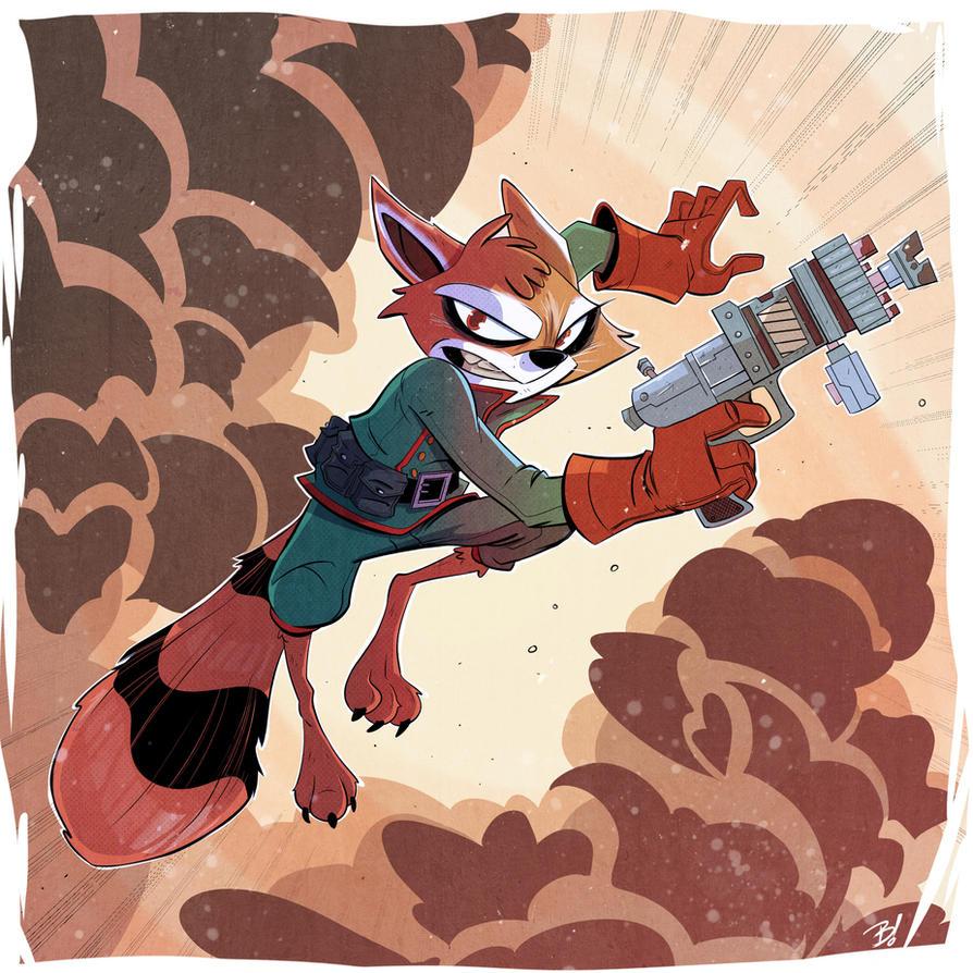 Rocket Raccoon by DaveBardin