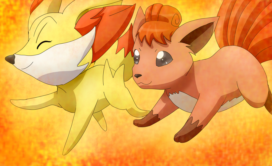 Fennekin and Vu...