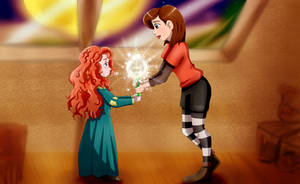 Merida and Penny swaped ages by Riadorana