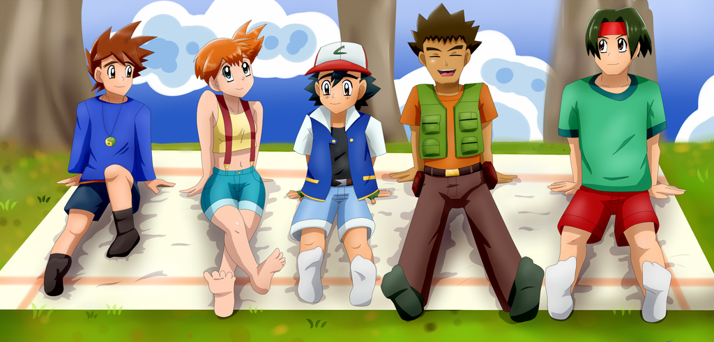 Gary misty ash brock tracey having picnic by riadorana on deviantart - Pokemon misty feet ...
