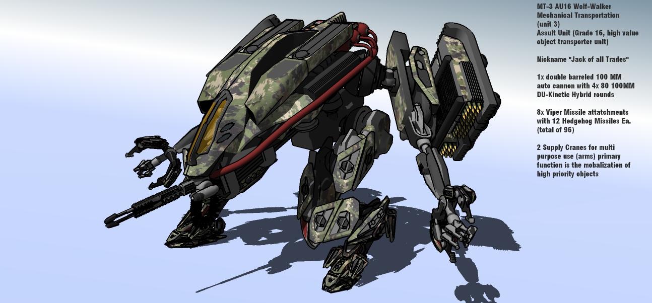 MT-3 AU16 Wolf-Walker by MrJumpManV4