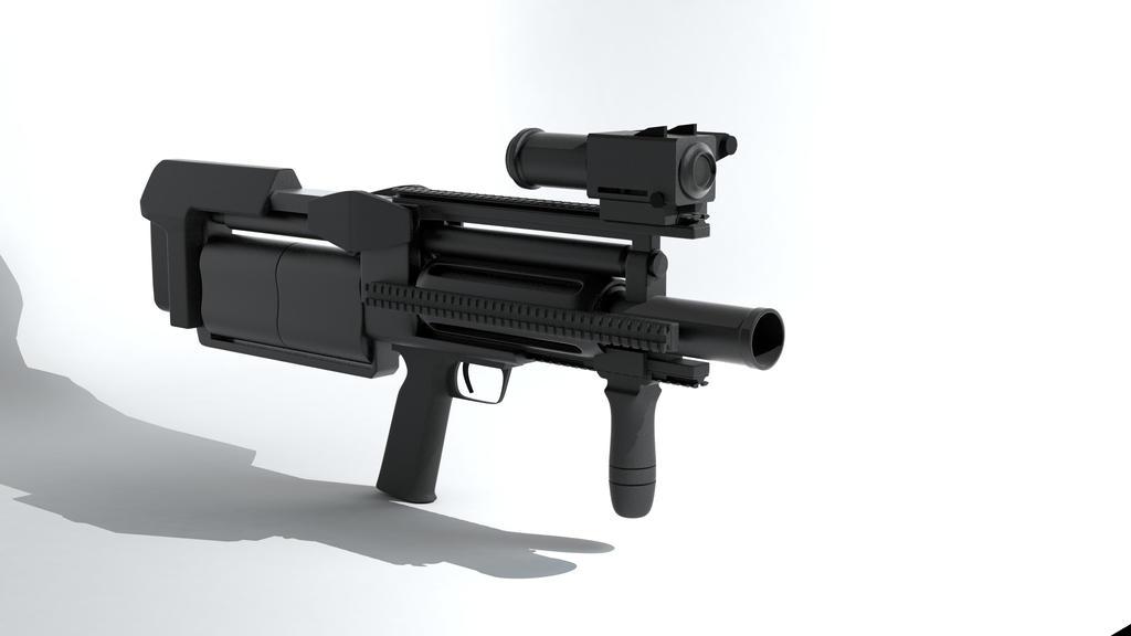 XM6 IGL Infantry Grenade Launcher render by MrJumpManV4