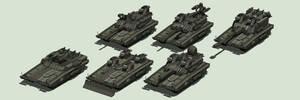M33 Caiman, Guardian, Hunter, Estoc, Mira, Prowler