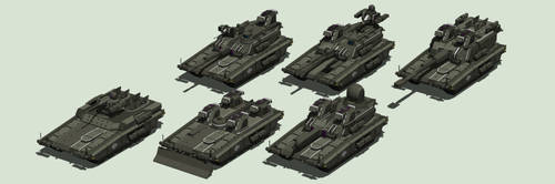 M33 Caiman, Guardian, Hunter, Estoc, Mira, Prowler by MrJumpManV4