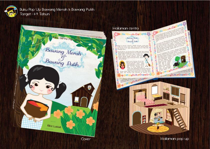 Buku Cerita Bawang Merah dan Bawang Putih - Pop Up by LoeAiTjia