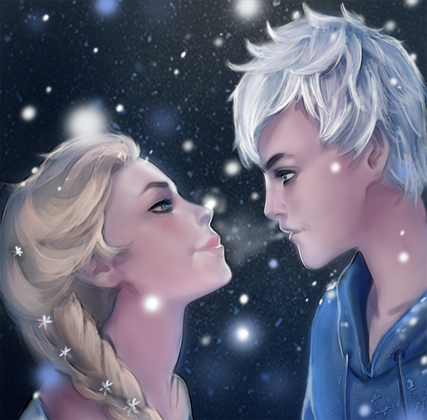Elsa and Jack Frost by YETI000