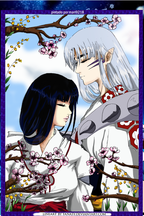 sesshomaru y kikyo love by mari9218