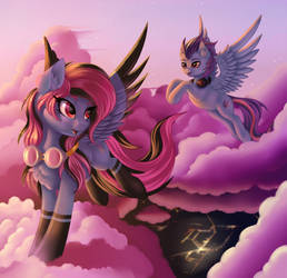 Among the clouds by Pony-Way