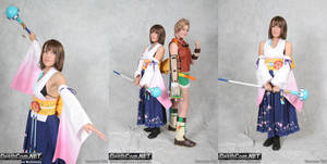 Summoner Yuna + Rikku Cosplay
