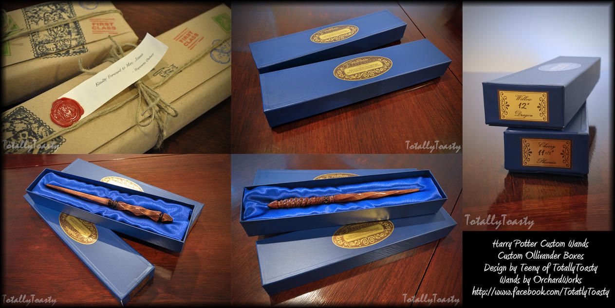 Harry Potter Wands And Ollivander Boxes by hiyoko-chan