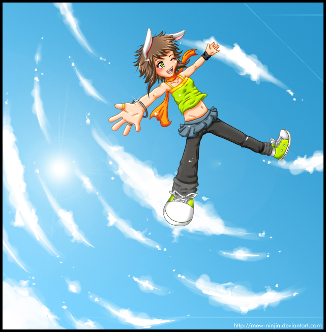 Falling down. by mew-ninjin