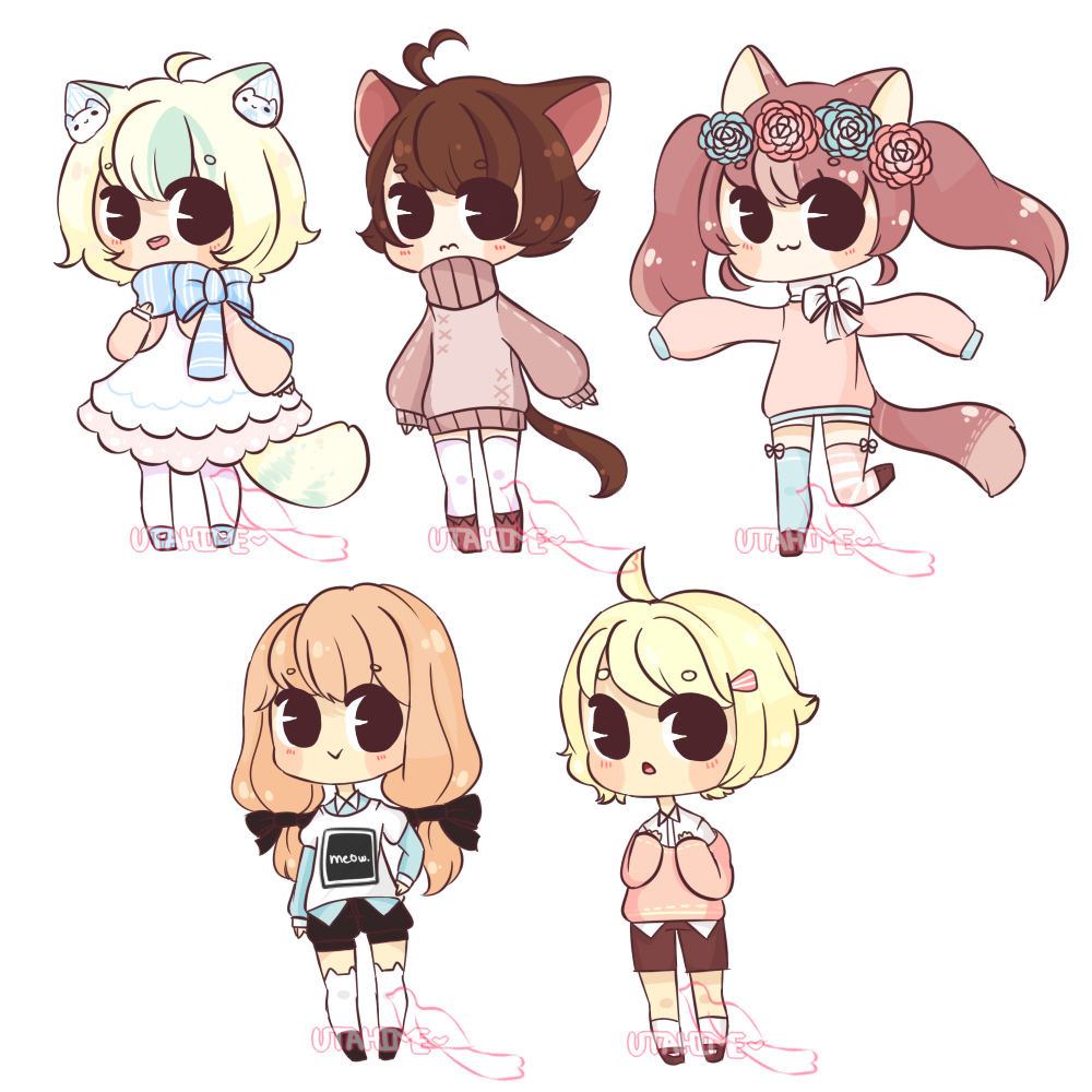 It is a picture of Geeky Chibi Style Drawing