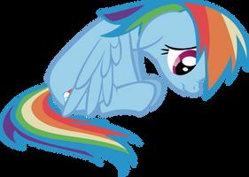 Glum Rainbow Dash by sircinnamon