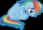 Glum Rainbow Dash
