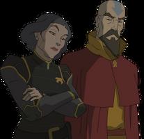 Lin and Tenzin by sircinnamon