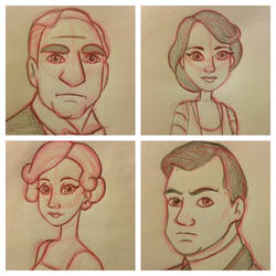 Drawing Downton by KateyECooper