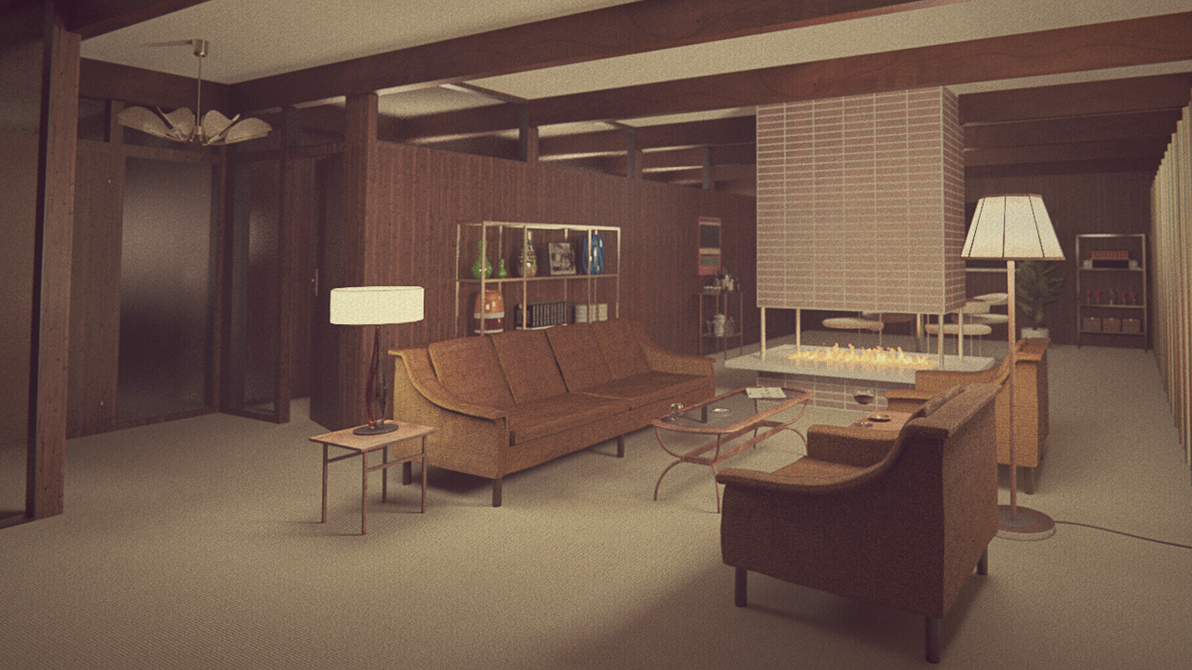 1960s living room by erkucrunk on deviantart for 60s apartment design