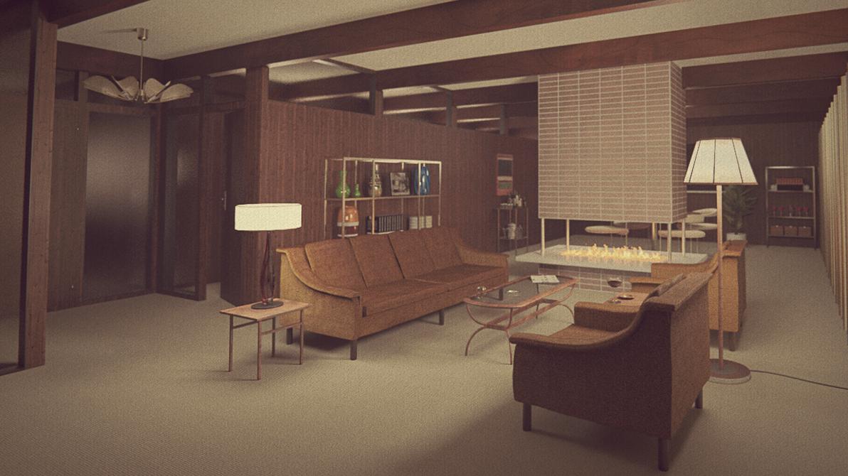 1960s Living Room By Erkucrunk On Deviantart