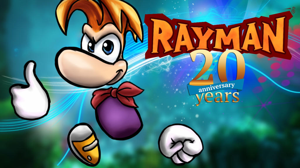 Rayman 20th Anniversary Wallpaper by JamoArt