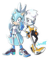 Chi And Tangle by JamoART