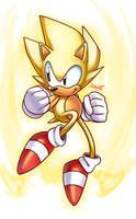 Spiky Super Sonic by JamoART