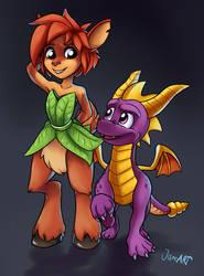 Spyro and Elora by JamoART