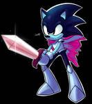 Deltarune Sonic by JamoART