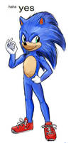 haha yes: Movie Sonic edition.