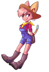 Mathilda Jade Thistle 'bout to do some farmin' by JamoART