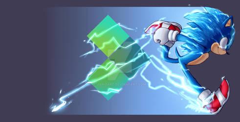 Sonic Movie Art for Pixel.TV