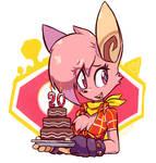 Mathilda and Choccy cake
